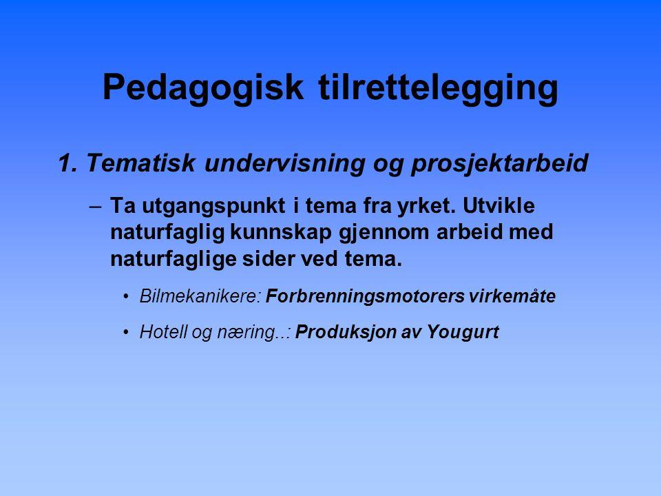 Pedagogisk tilrettelegging 1.