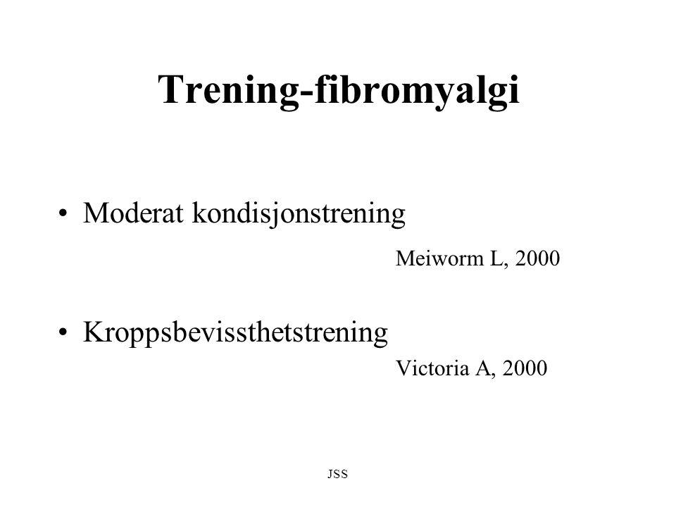 JSS Trening-fibromyalgi Moderat kondisjonstrening Meiworm L, 2000 Kroppsbevissthetstrening Victoria A, 2000