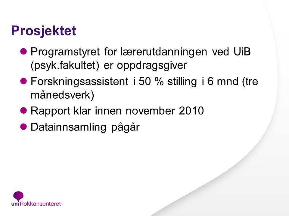 Eksempel: Mikalsen og Strøm (2009): Studenters opplevelse av trivsel og kvalitet i studiene.