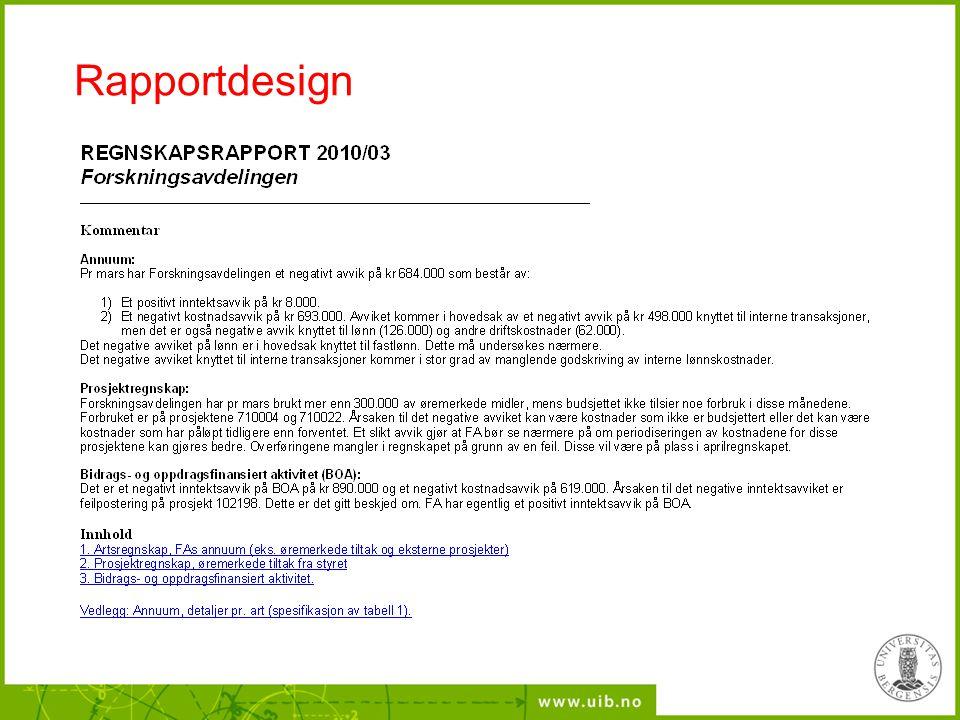 Rapportdesign