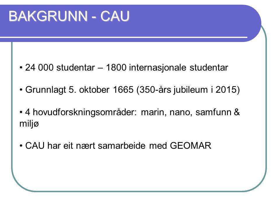 24 000 studentar – 1800 internasjonale studentar Grunnlagt 5.
