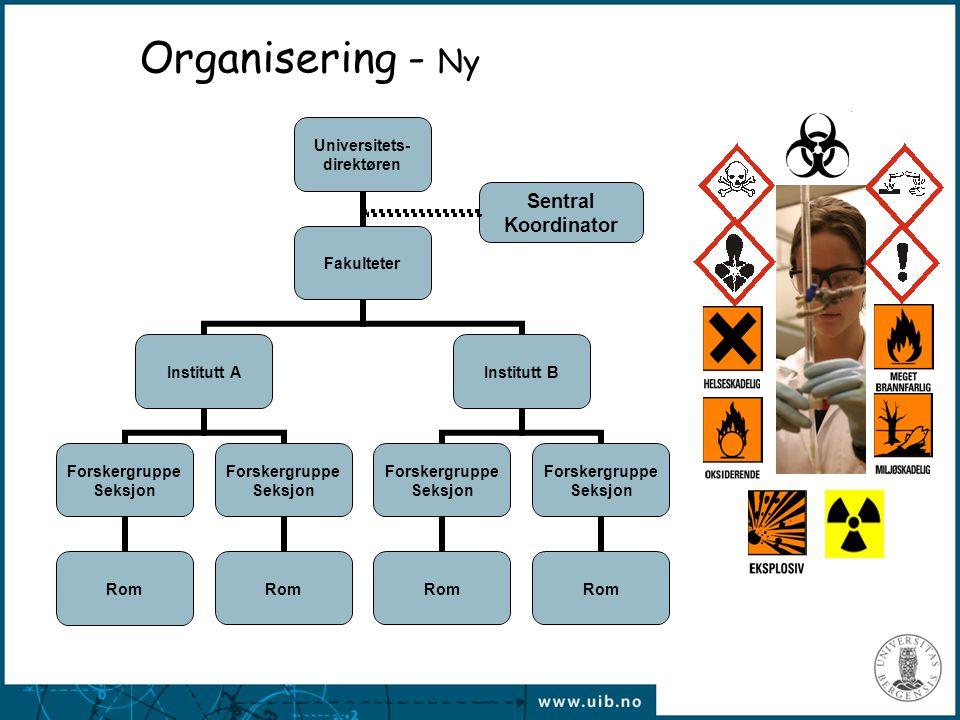 Organisering - Ny Sentral Koordinator