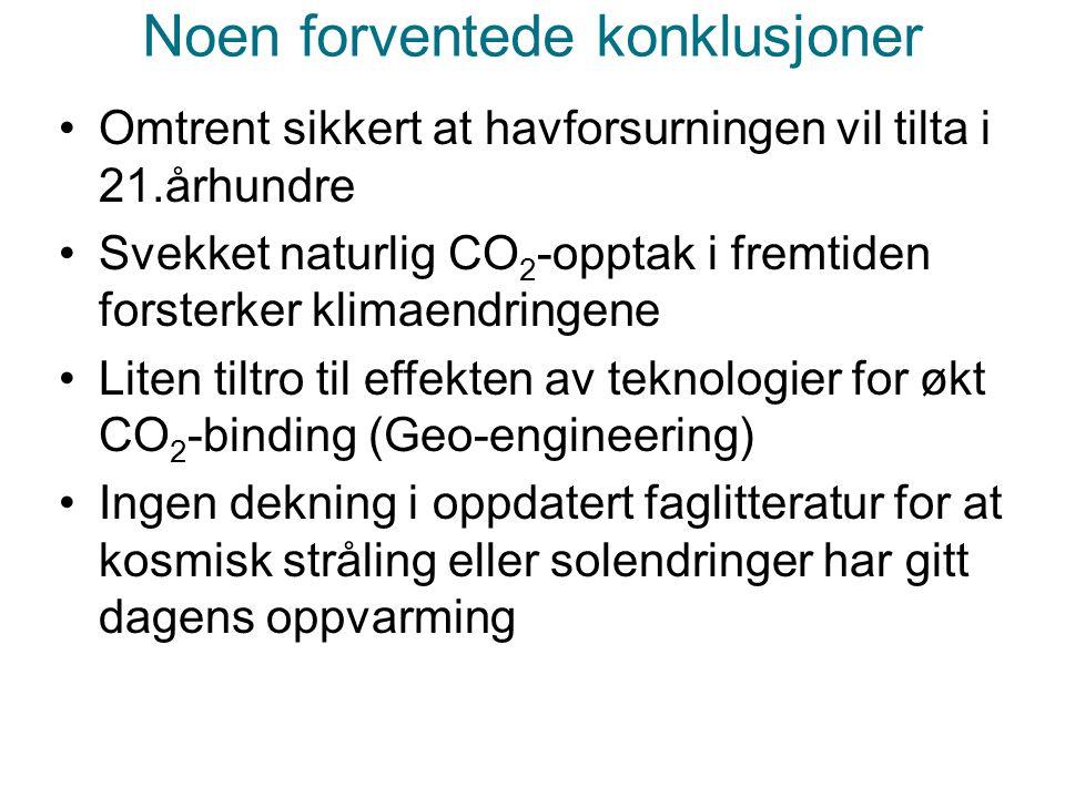 Helge Drange Geofysisk institutt Universitetet i Bergen Framtidige utslipp som i dag Global temperaturendring, 15 modeller (relativt til 1961-1990) +2 °C 2025-2050