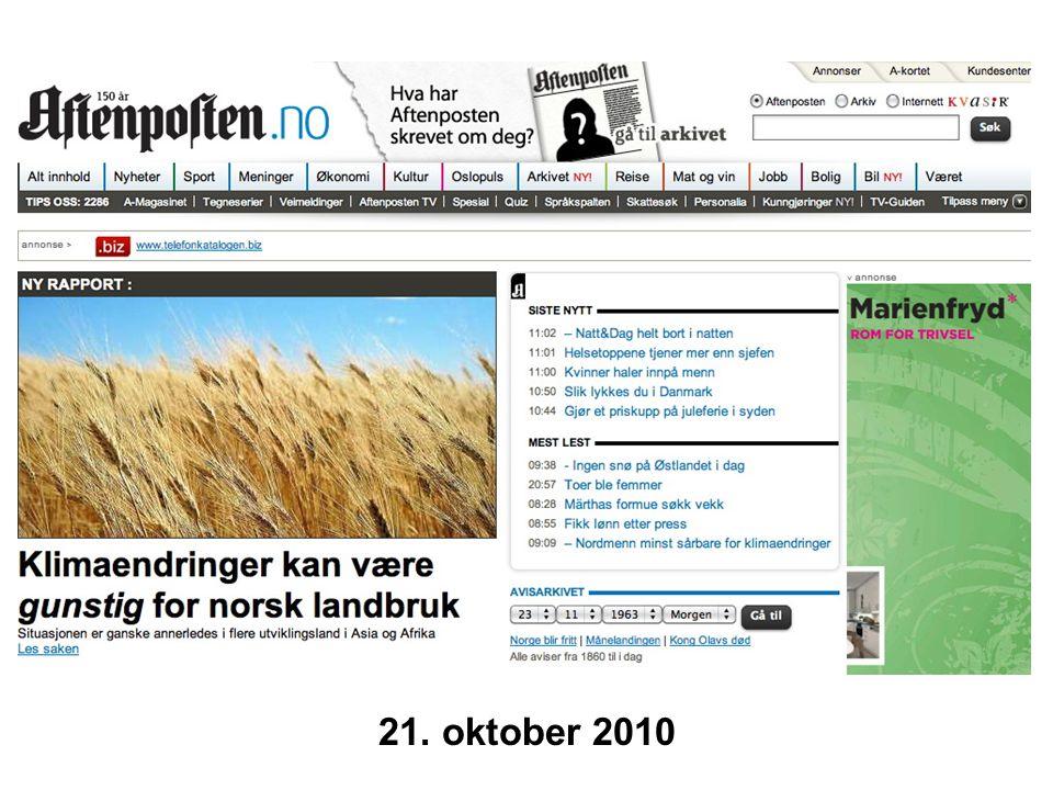 Helge Drange Geofysisk institutt Universitetet i Bergen 21. oktober 2010