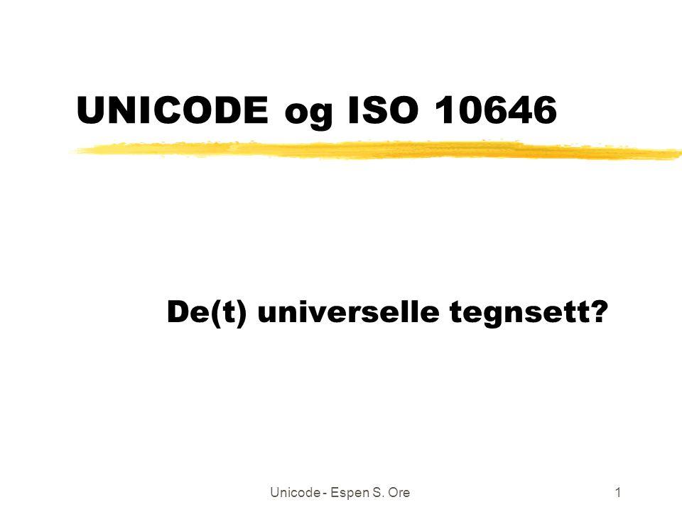 Unicode - Espen S.