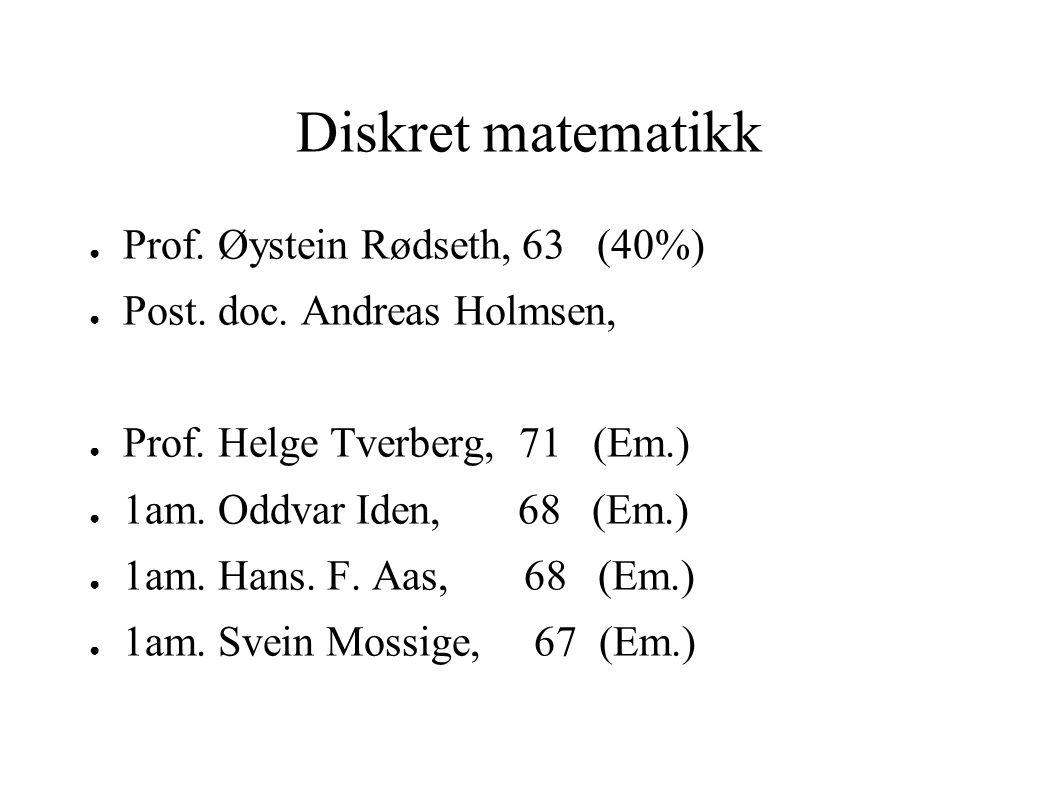 Uregelmessige kurs 9x2 + 4y2 = 36 Analyse Algebra Topologi MAT215 Mål og integralteori MAT225 Tallteori MAT331 Alg.