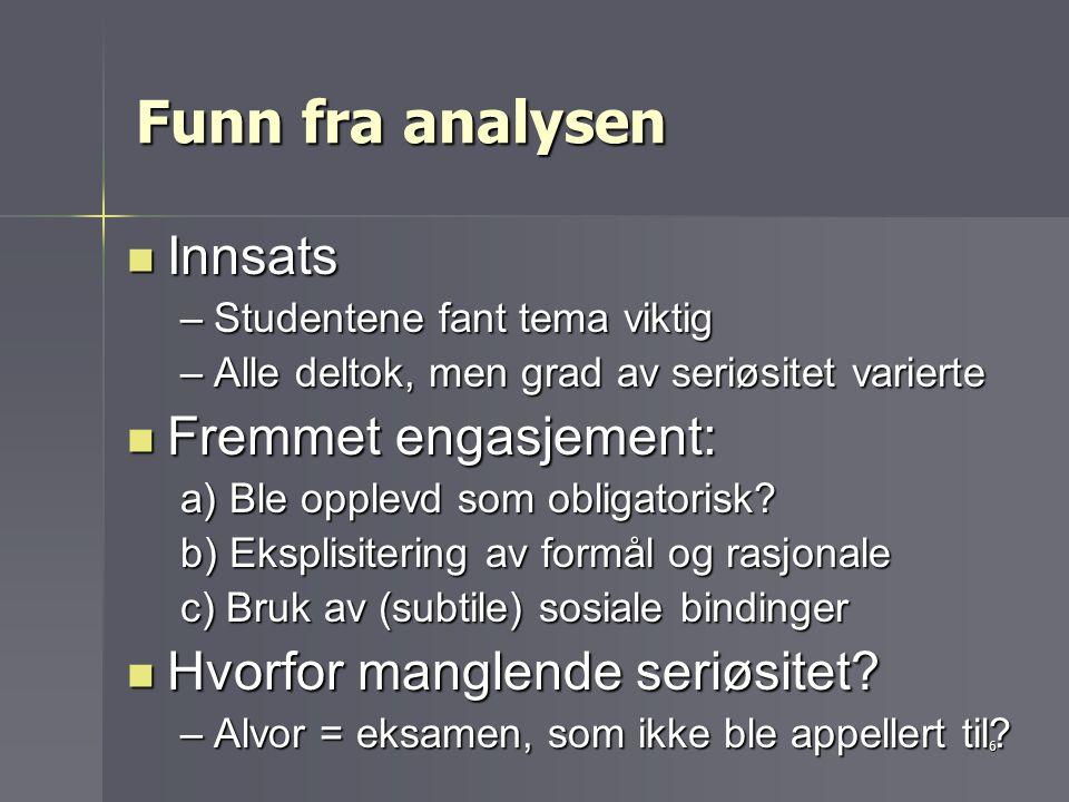5 Eks. 1: Informasjonsvurdering (jf.