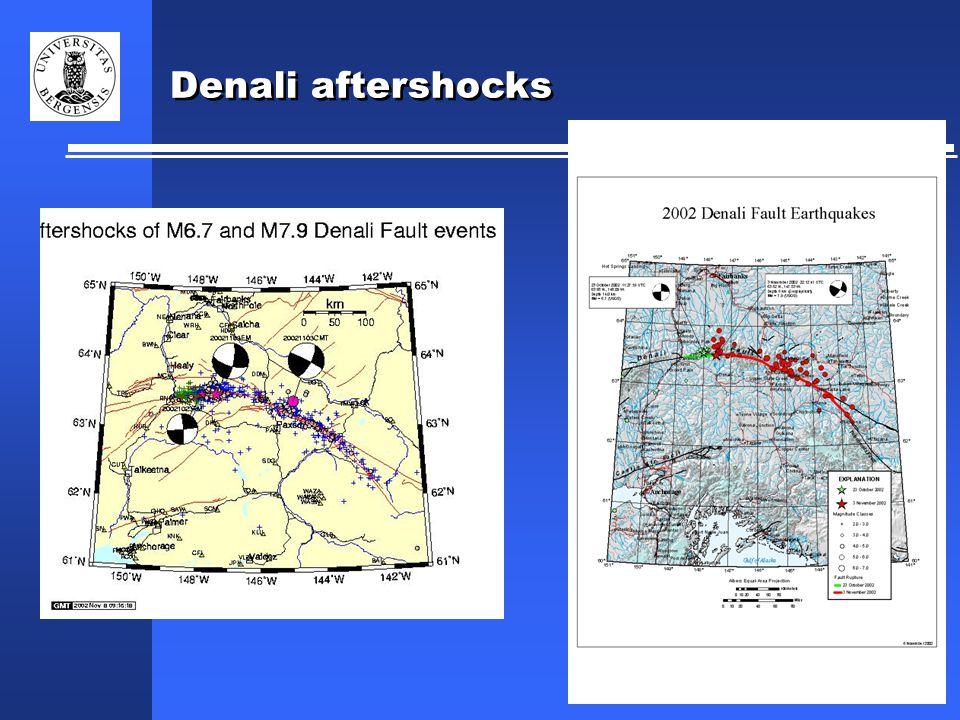 Denali aftershocks
