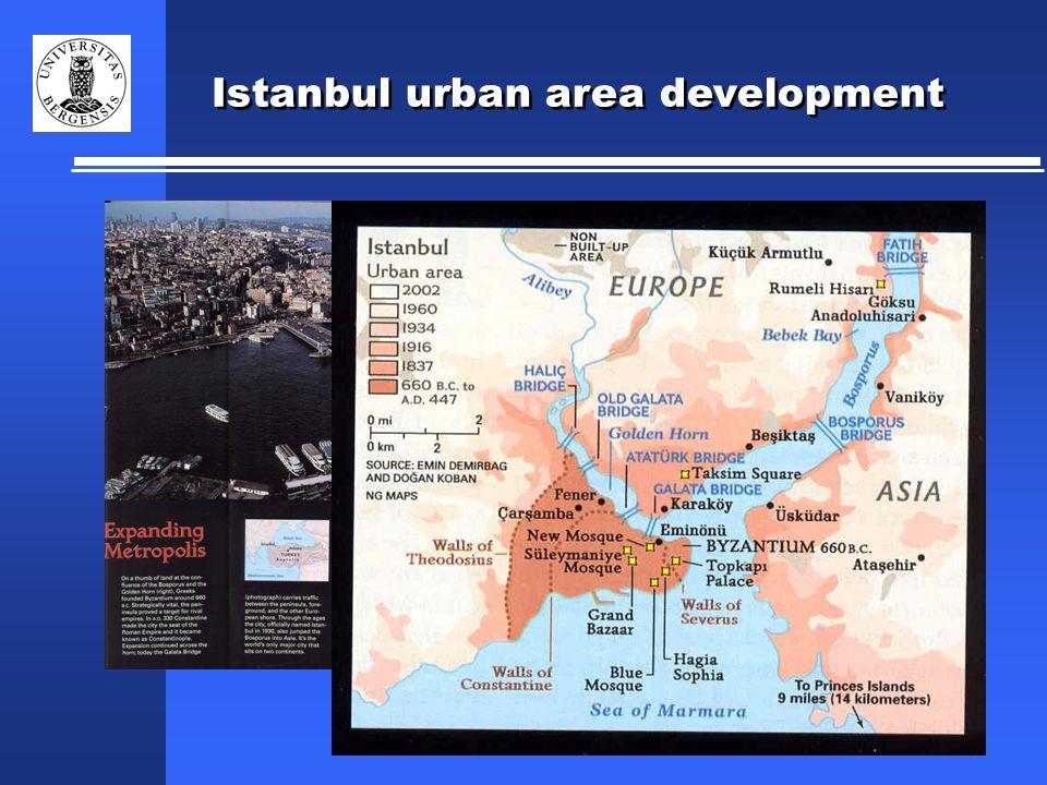 Istanbul urban area development