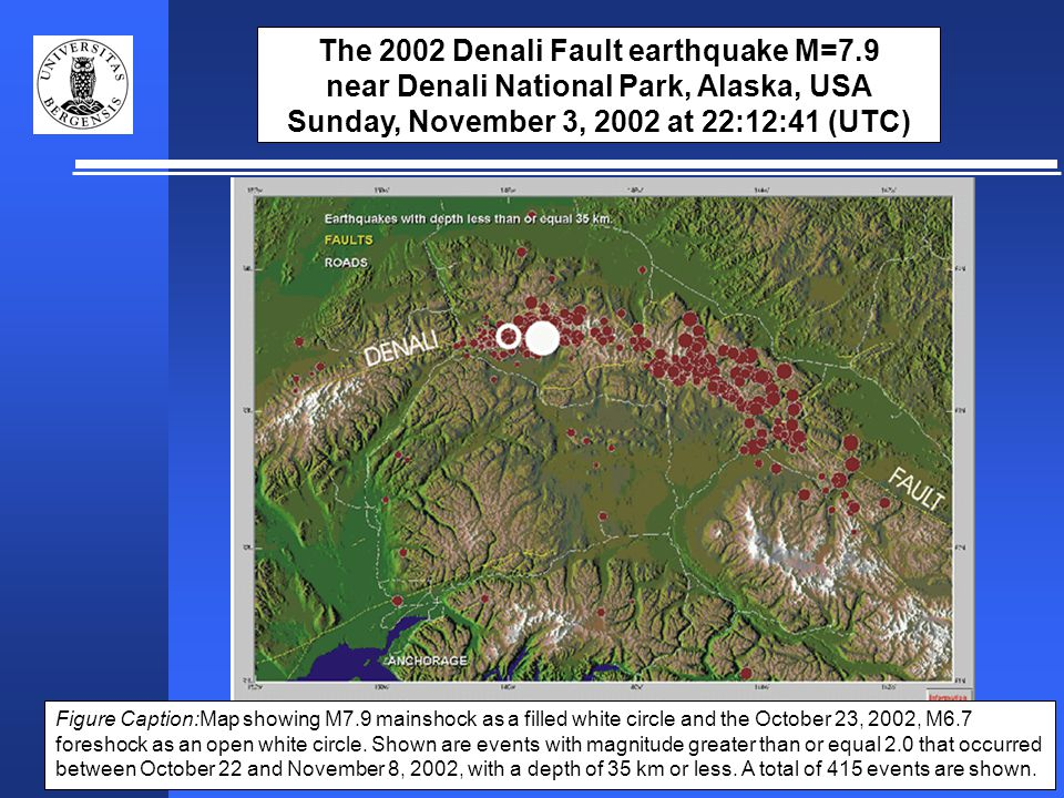 Animation of Denali earthquakes in time