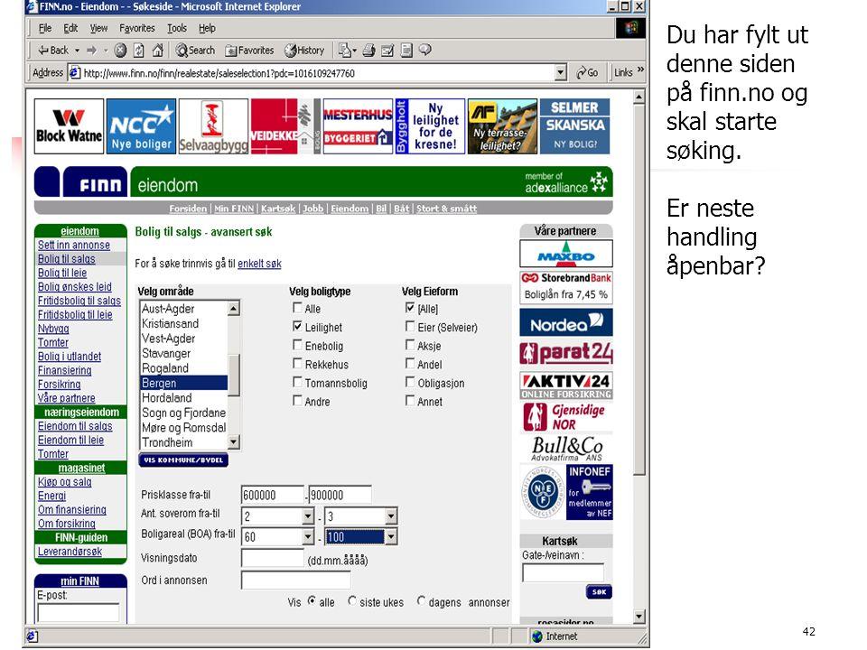 11.11.2002Motivasjon42 1 minutts øving Du har fylt ut denne siden på finn.no og skal starte søking.