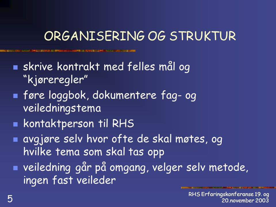 RHS Erfaringskonferanse 19.
