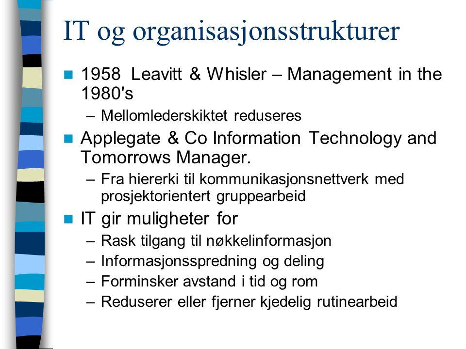 IT investeringer og organisasjonsendringer