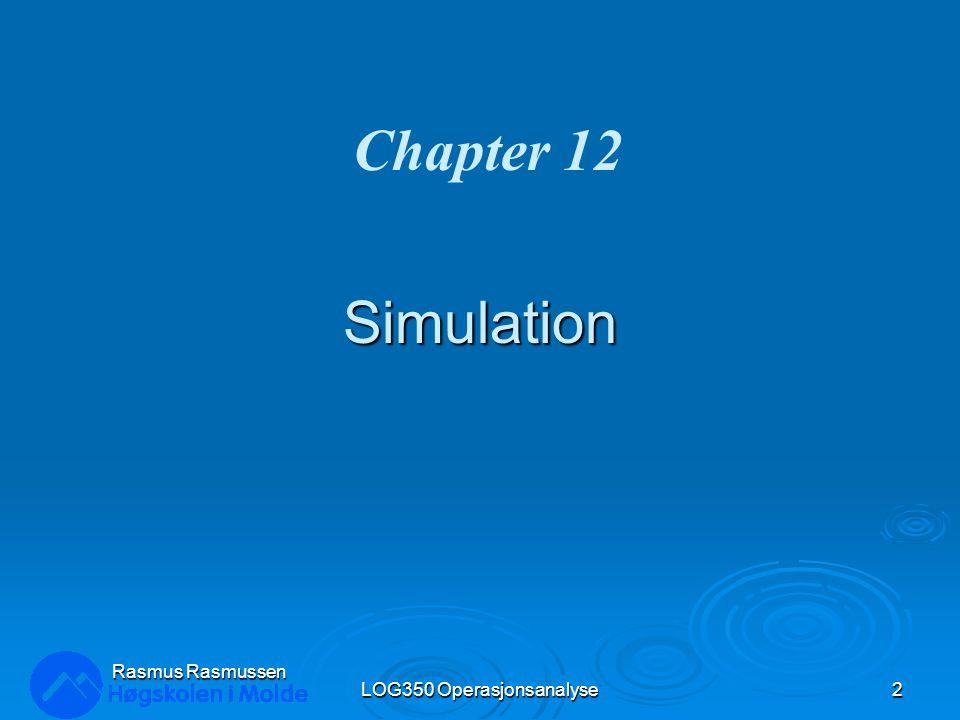 Implementere & Simulere modellen LOG350 Operasjonsanalyse33 Rasmus Rasmussen Multiple simuleringer: Alternative mengder billetter for salg: Celle C7 =PsiSimParam(E9:E15) Multiple simuleringer: Alternative mengder billetter for salg: Celle C7 =PsiSimParam(E9:E15)