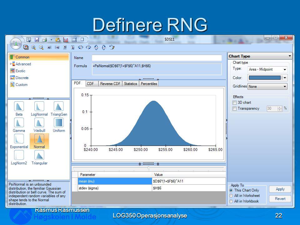 Definere RNG LOG350 Operasjonsanalyse22 Rasmus Rasmussen
