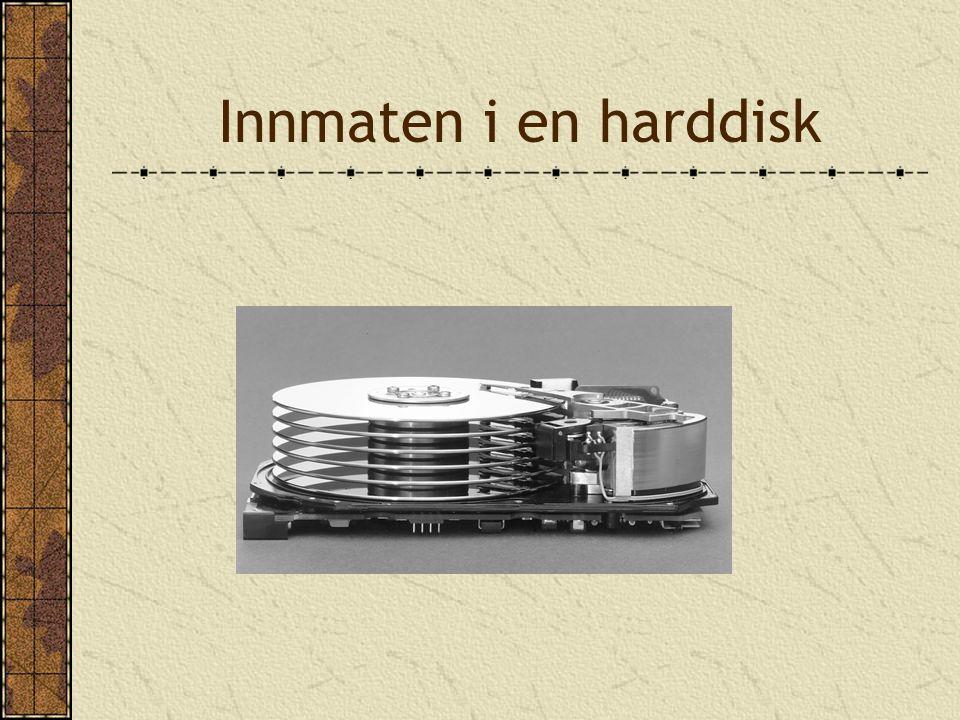 Innmaten i en harddisk