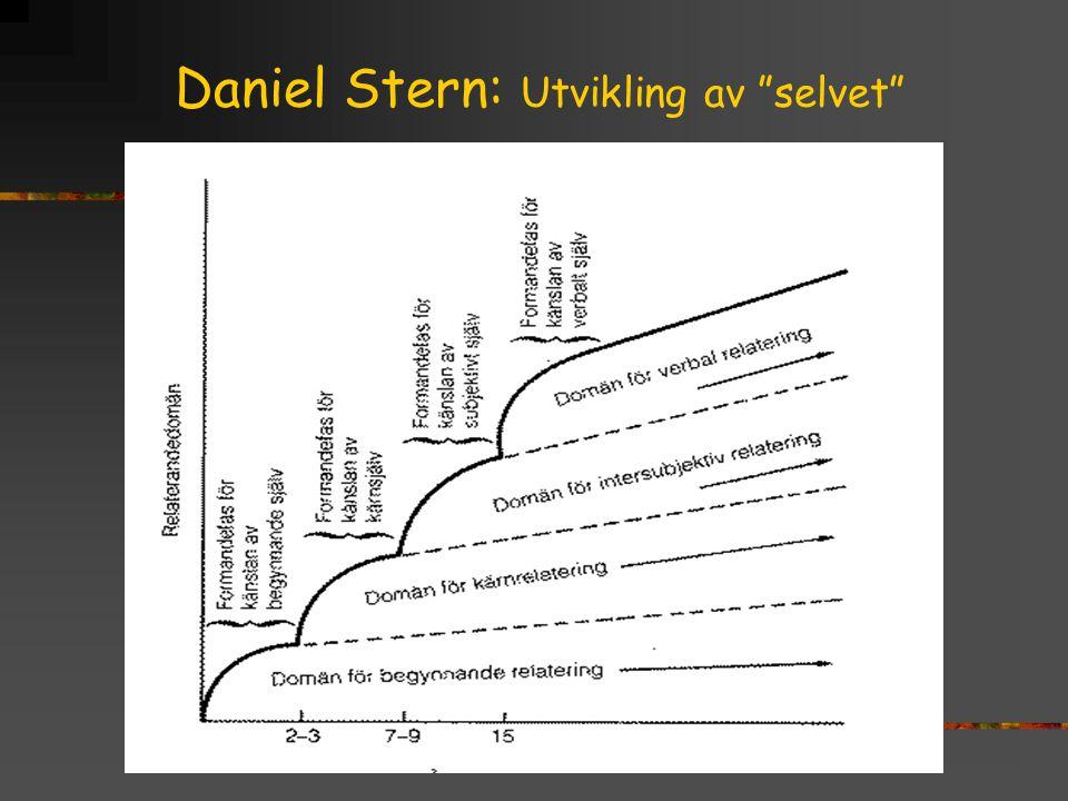"""Daniel Stern: Utvikling av """"selvet"""""""