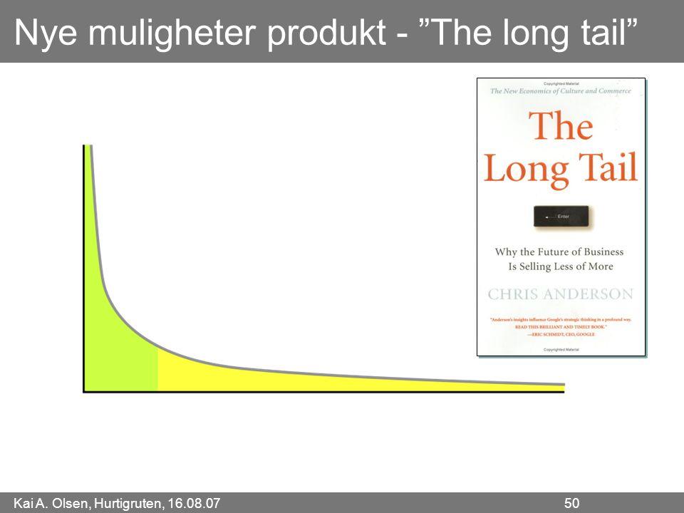 """Kai A. Olsen, Hurtigruten, 16.08.07 50 Nye muligheter produkt - """"The long tail"""""""