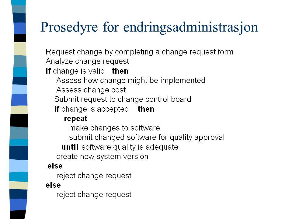 Prosedyre for endringsadministrasjon