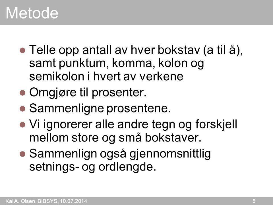 Kai A.Olsen, BIBSYS, 10.07.2014 6 Resultat Kan f.eks.