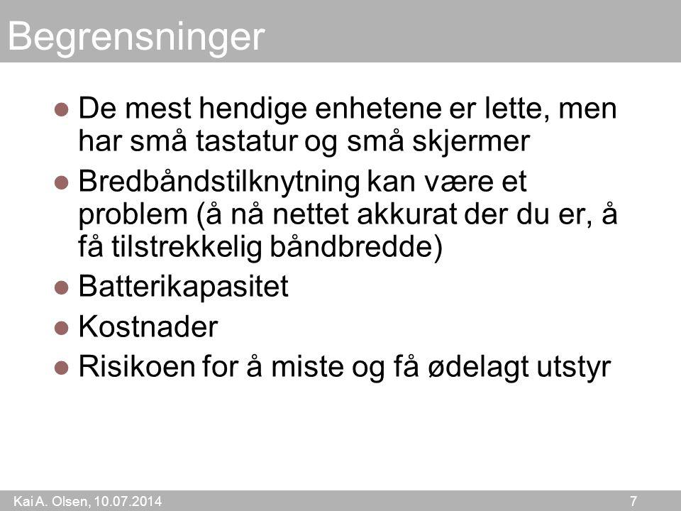 Kai A.Olsen, 10.07.2014 28 Kap. 42. Sosiale nett Vi skal studere dette fenomenet.
