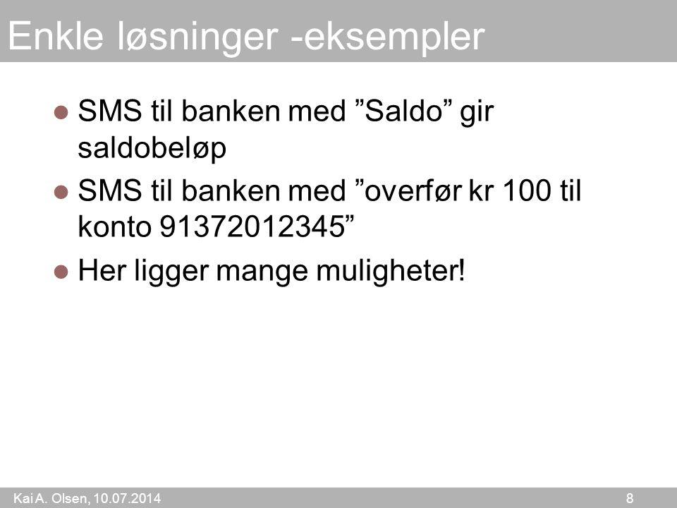 Kai A.Olsen, 10.07.2014 59 Miniøving Kan sosiale medier brukes i undervisning.