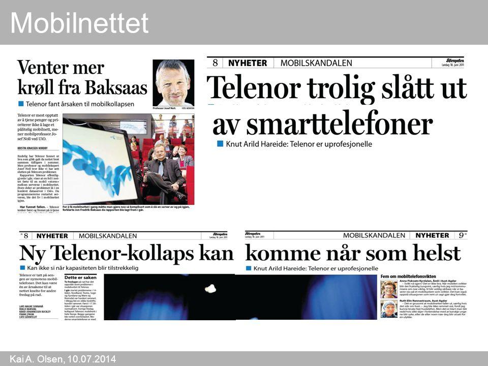 Kai A. Olsen, 10.07.2014 21 Mobilnettet