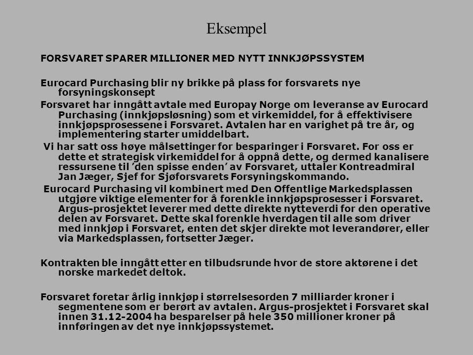 Eurocard Purchasing – Innkjøpssystemer med store besparelser Europay Norge AS har utviklet et nytt produkt - Eurocard Purchasing. Innkjøp kan forenkle