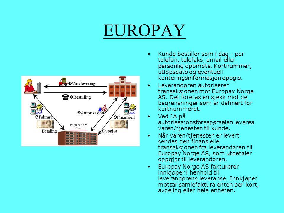 Eksempel FORSVARET SPARER MILLIONER MED NYTT INNKJØPSSYSTEM Eurocard Purchasing blir ny brikke på plass for forsvarets nye forsyningskonsept Forsvaret