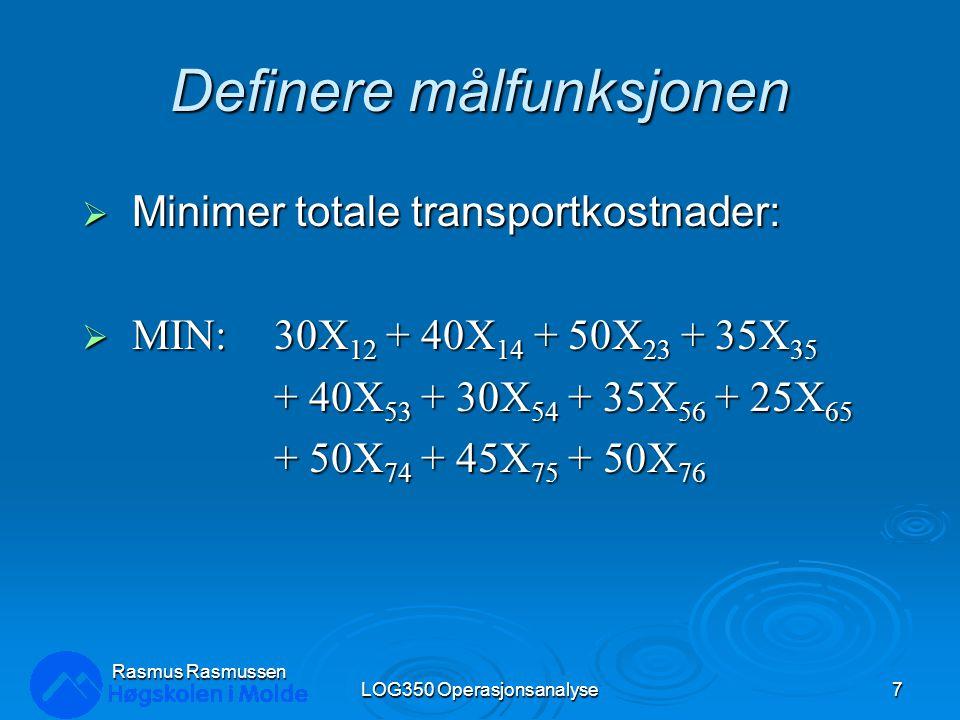 Minimal Span LOG350 Operasjonsanalyse58 Rasmus Rasmussen