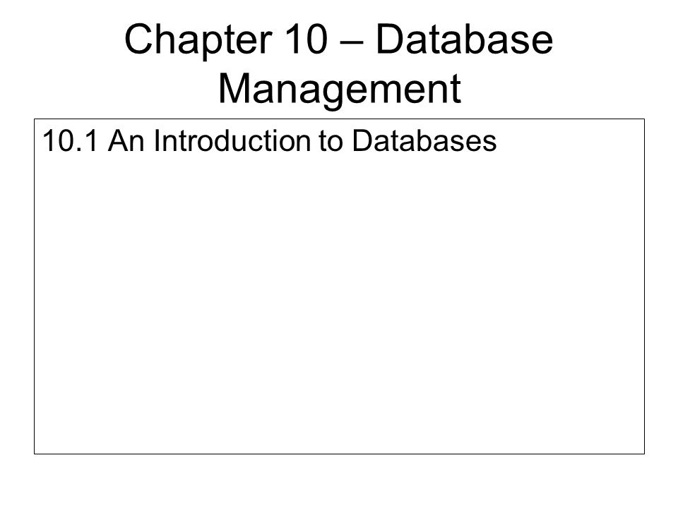 Database Explorer Accessing a Database with a Data Table