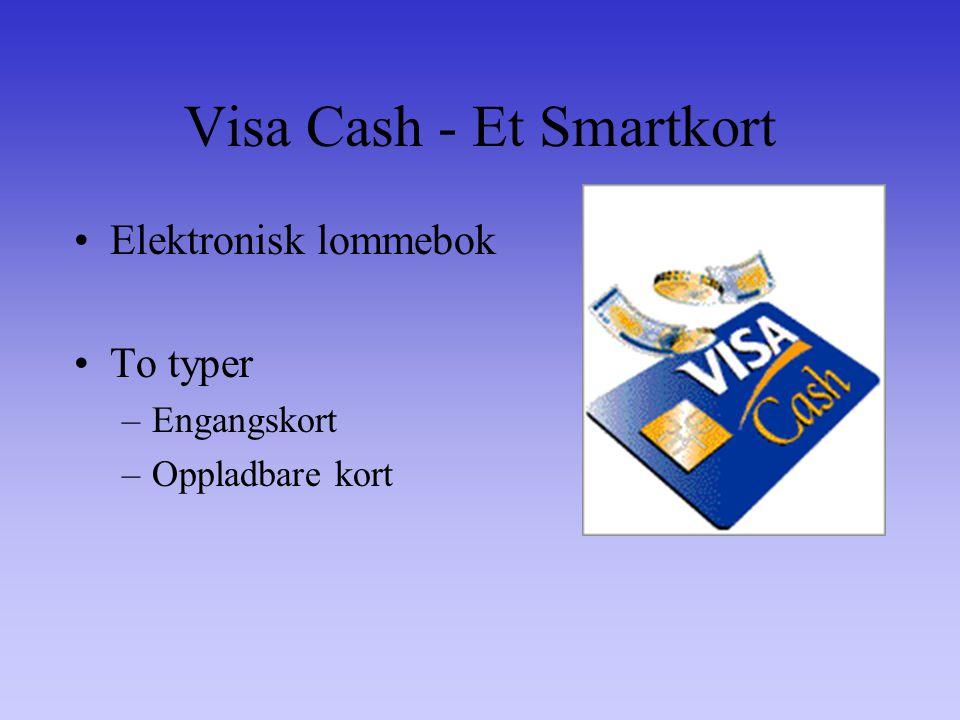 Visa Cash - Et Smartkort Elektronisk lommebok To typer –Engangskort –Oppladbare kort