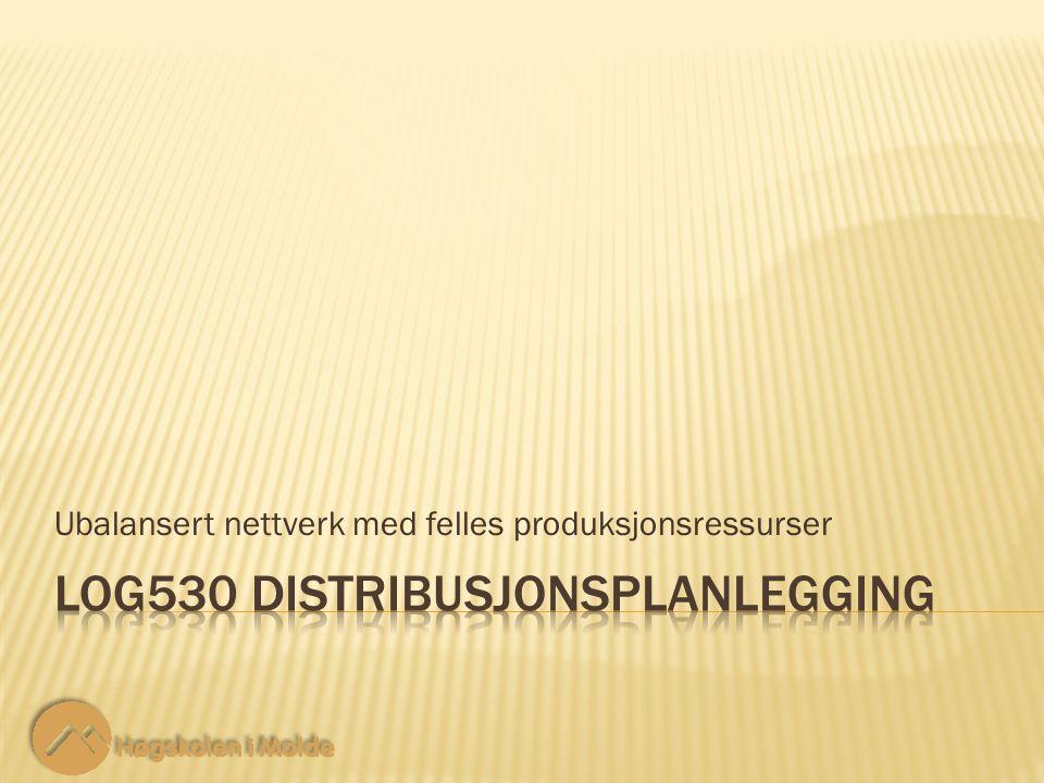 Ubalansert nettverk med felles produksjonsressurser