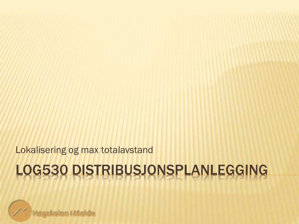 Lokalisering og max totalavstand