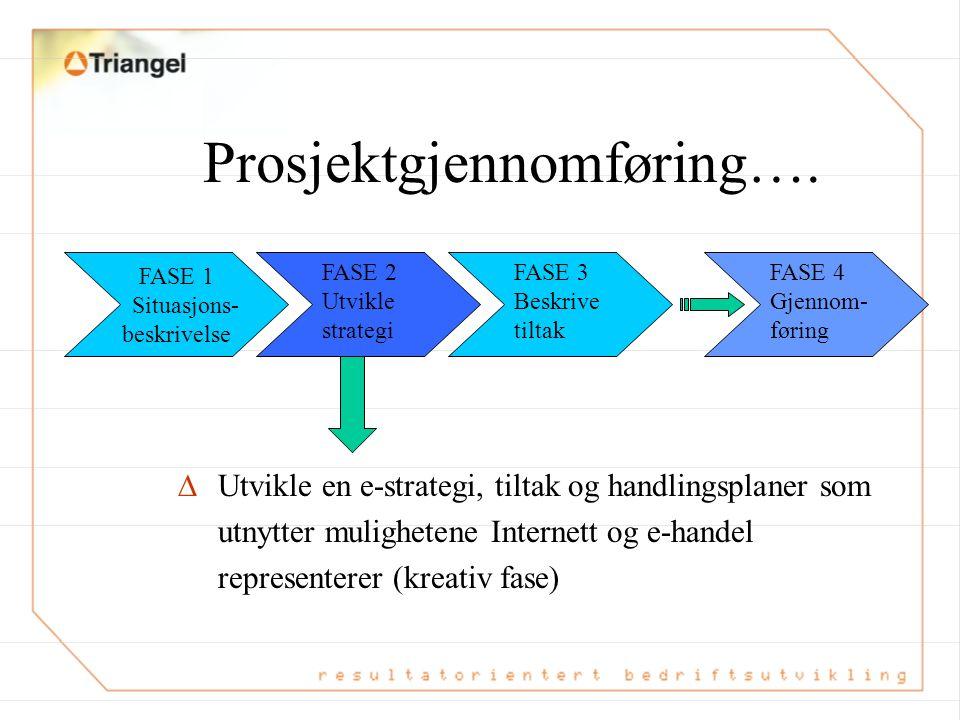 Prosjektgjennomføring….