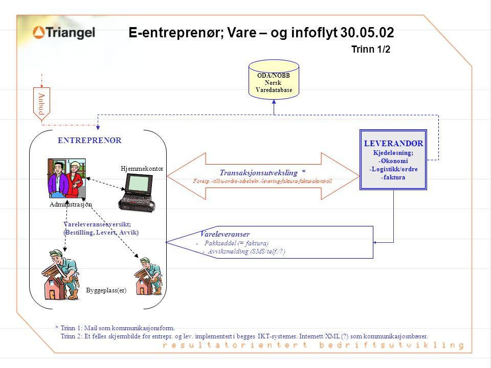 Dokumentasjonsvisjon Arkitekt Entreprenør Fagkonsulent (RiB, VVS, EL) Leverandør Prosjekt- leder Kommune All info/ dokumentasjon vedr. prosjektet (f.e