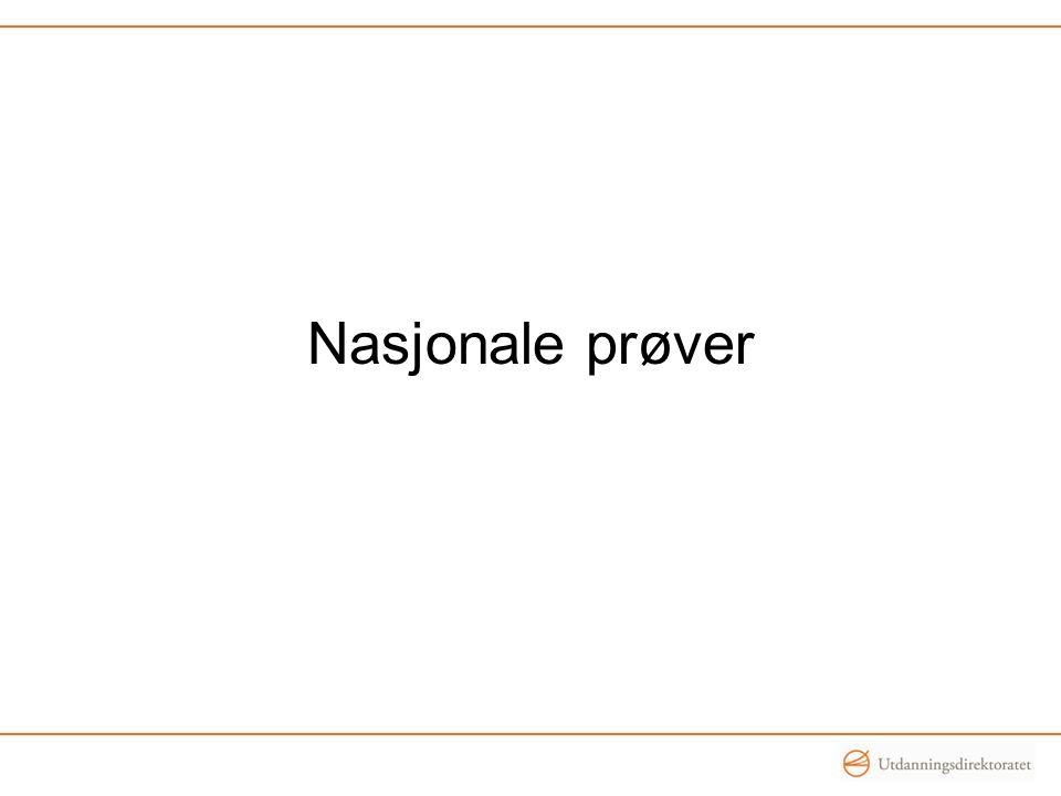 Nasjonale prøver vs.