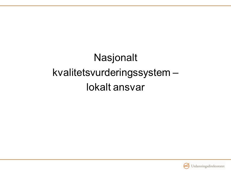Nasjonalt kvalitetsvurderingssystem – lokalt ansvar