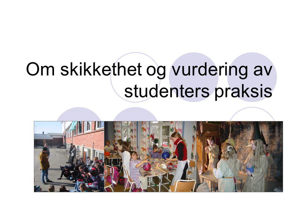 Om skikkethet og vurdering av studenters praksis