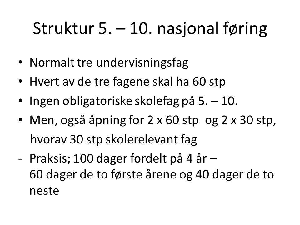 Struktur 5. – 10.
