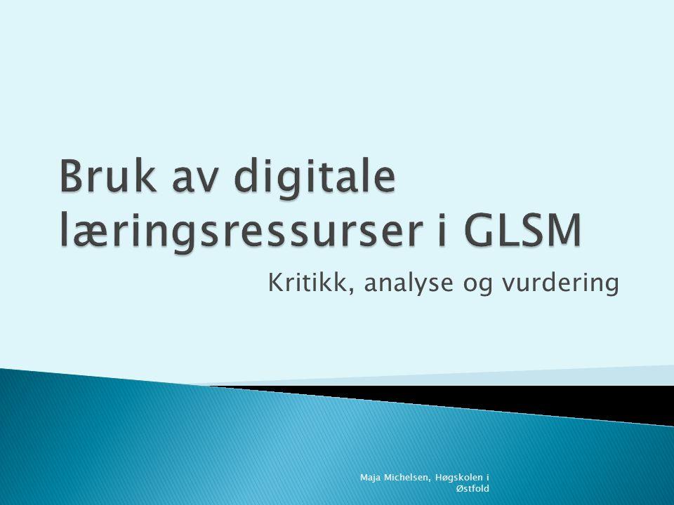 Kritikk, analyse og vurdering Maja Michelsen, Høgskolen i Østfold