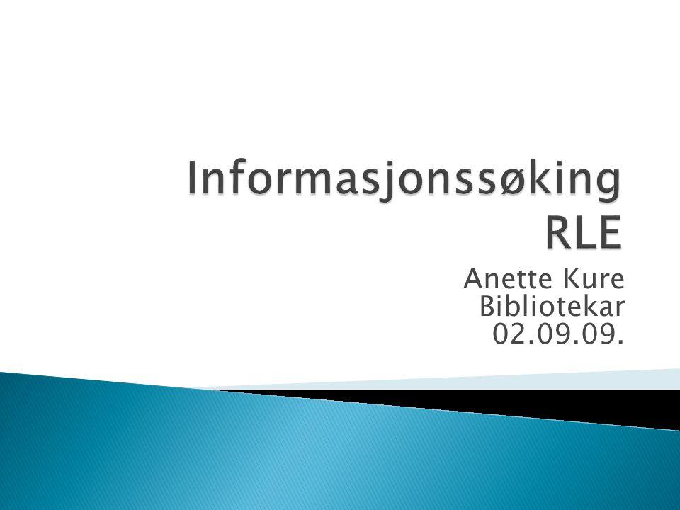Anette Kure Bibliotekar 02.09.09.