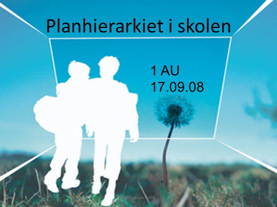 Planhierarkiet i skolen 1 AU 17.09.08 1Kari Spernes - HiØ