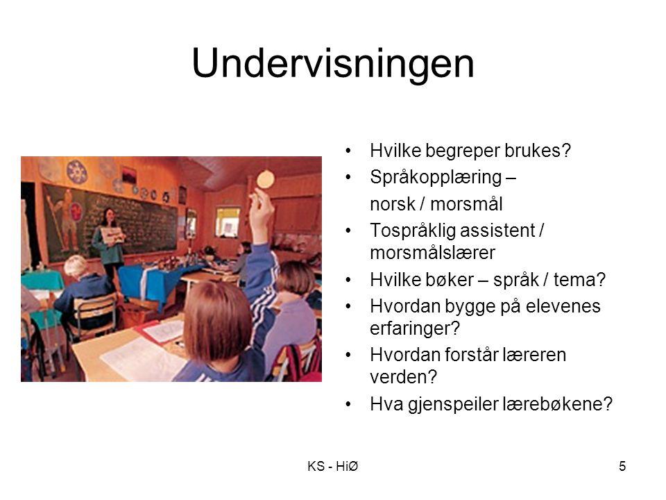 Undervisningen Hvilke begreper brukes? Språkopplæring – norsk / morsmål Tospråklig assistent / morsmålslærer Hvilke bøker – språk / tema? Hvordan bygg