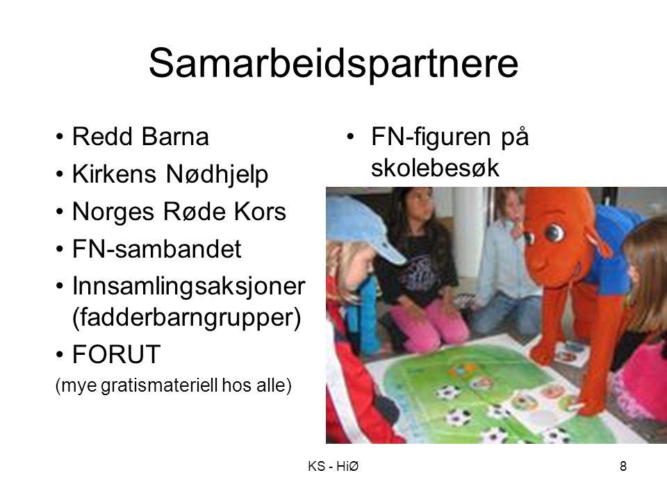 Samarbeidspartnere Redd Barna Kirkens Nødhjelp Norges Røde Kors FN-sambandet Innsamlingsaksjoner (fadderbarngrupper) FORUT (mye gratismateriell hos al
