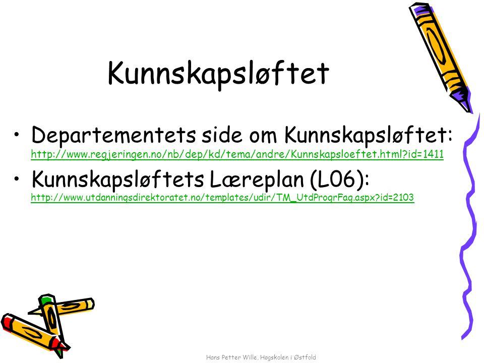 Hans Petter Wille, Høgskolen i Østfold Litteraturliste, eks.: Ordnes alfabetisk etter forfatters etternavn.
