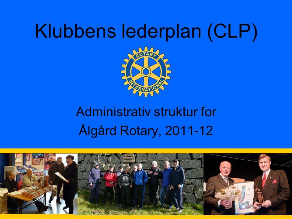 1 Klubbens lederplan (CLP) Administrativ struktur for Ålgård Rotary, 2011-12
