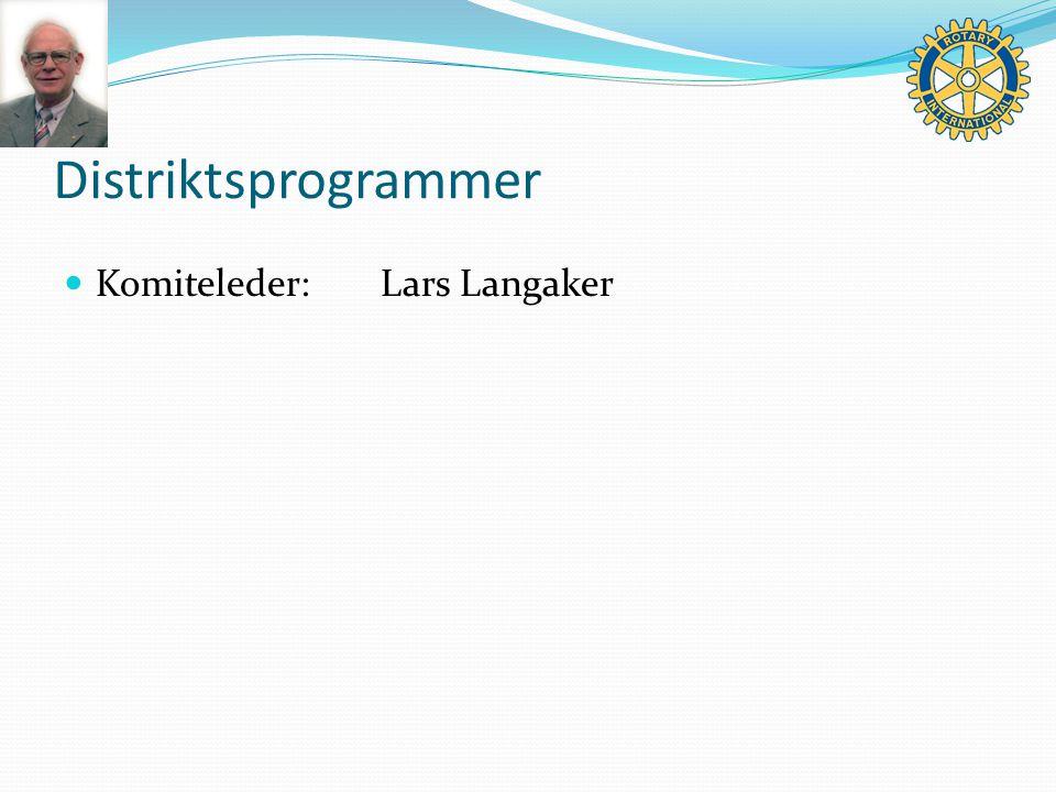 Distriktsprogrammer Komiteleder:Lars Langaker