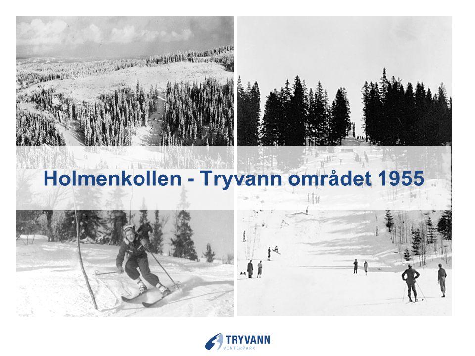 Holmenkollen - Tryvann området 1955