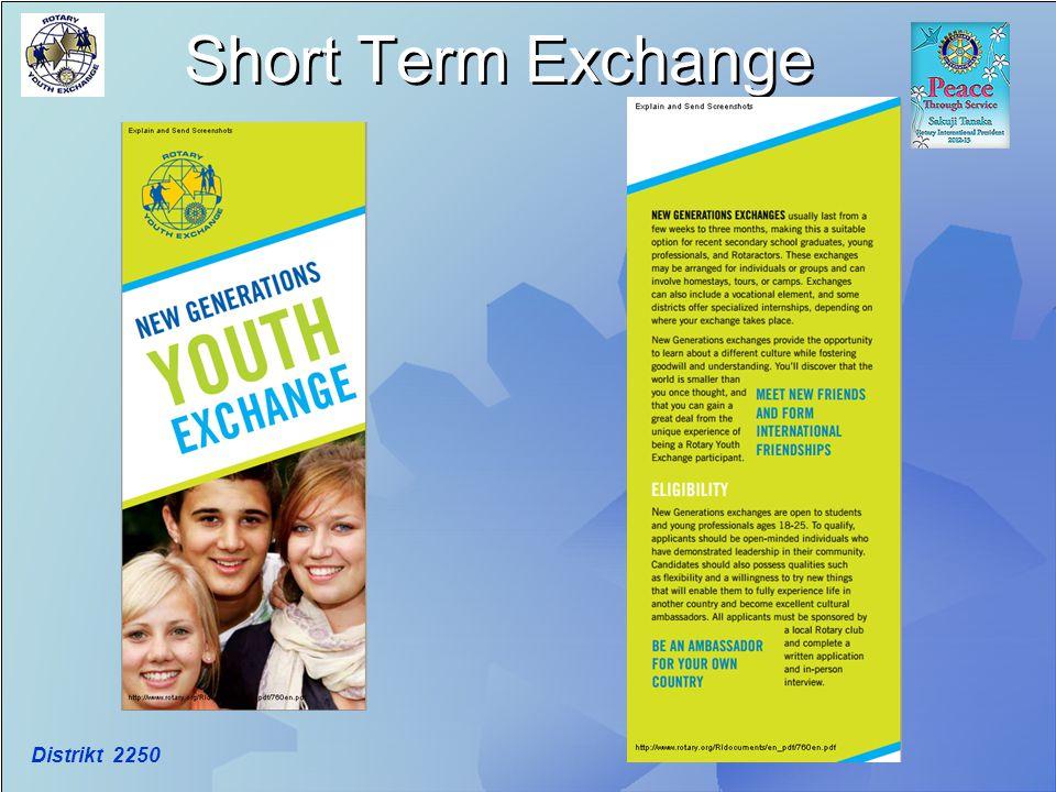 Short Term Exchange Distrikt 2250